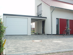 garage mit carport cheap garage oder carport with garage. Black Bedroom Furniture Sets. Home Design Ideas